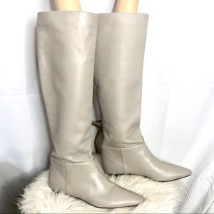Zara Woman Sand/Beige Knee High Boots 38 EUC